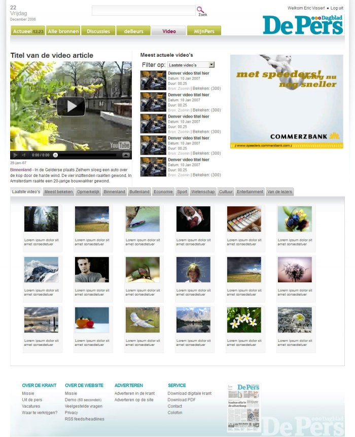 Video News page