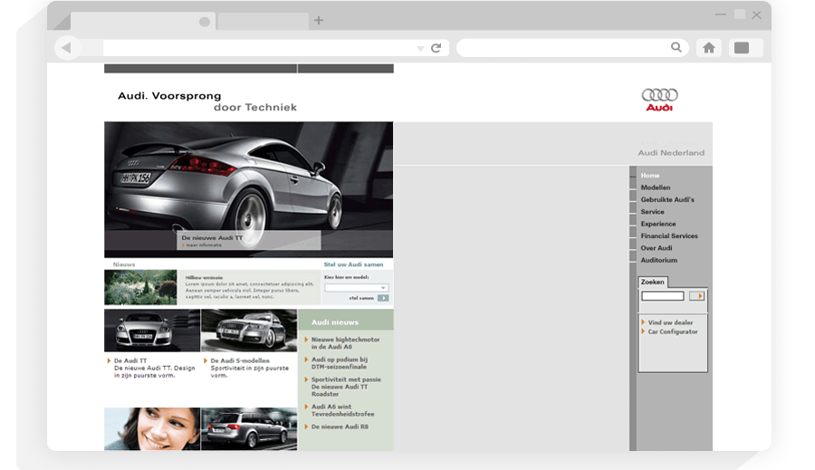 Website AUDI NL